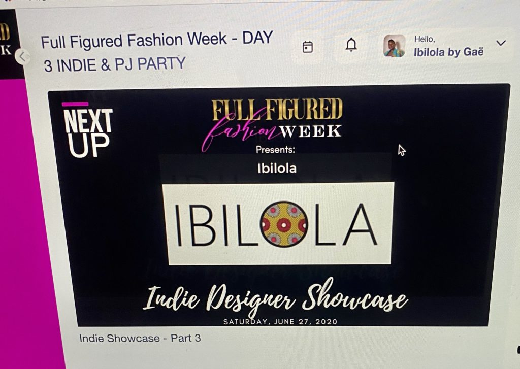 Le show d'Ibilola à la Full Figured Fashion Week